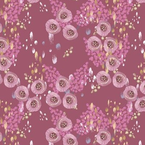 Woodland Florals // Deep Rose