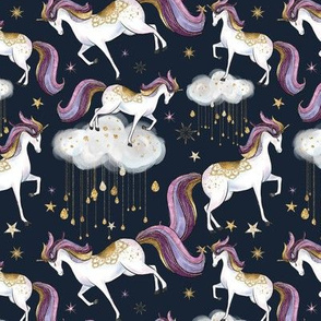 Starlight Unicorns Gold rain drops