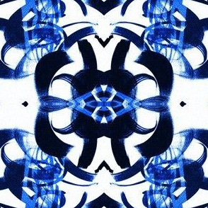 Blue and white all traditional horizontal large  scale