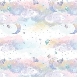 Magical Rainbow Gems Sky