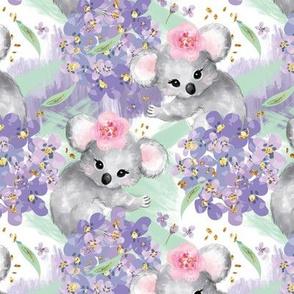 Springtime Koalas & Flowers