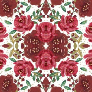 Glam Red Christmas Floral