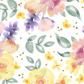 Honey Watercolor Floral
