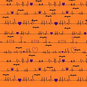 Halloween EKG with bats