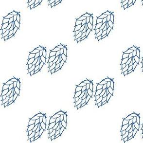 Diagonal Pairs of Blue Hops