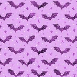 Watercolor Bats Purple 1/2 Size
