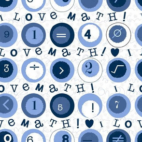 I Love Math! - blue