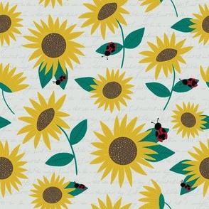 Sunflowers & Ladybugs Floral