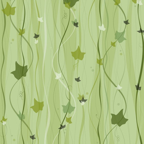 climbing vines - english ivy - leaves