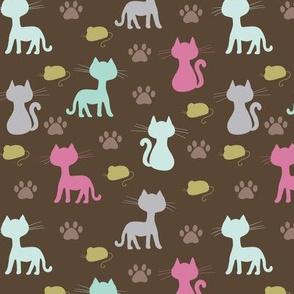 Caturday Cats & Pawprints & Mice