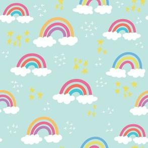 Rainbow Bright Cloud & Stars