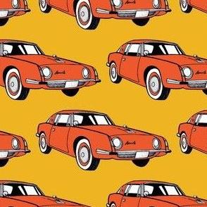 1963 Studebaker Avanti in orange tones
