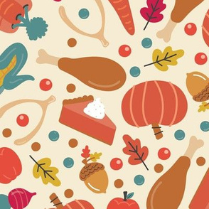 Thanksgiving Food | Large Scale