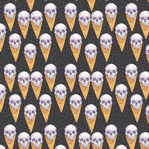 Skull Ice Cream Cones Extra-Small Scale