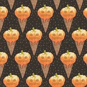 Jack O'lantern Ice Cream Cones small scale
