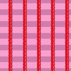 Violet Red Vines Stripes