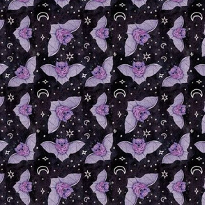 Purple Bats at Night Small Scale