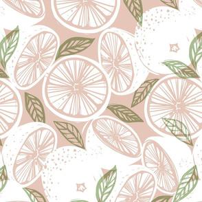 Grapefruit White and Blush