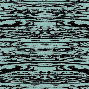 Rorschah Stripes on Aqua