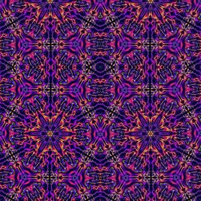 Psychedelic Kaleidoscope in Purple, Pink, and Yellow