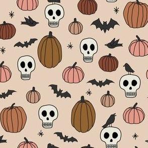 Mini Halloween Skulls Pumpkins Bats and Ravens