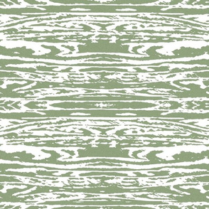 Rorschah Stripes on White Green