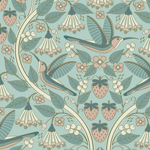 Hummingbirds + Honeysuckle // JUMBO