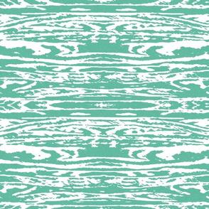 Rorschah Stripes White on Turquoise