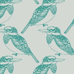 Kingfisher Teal & Grey