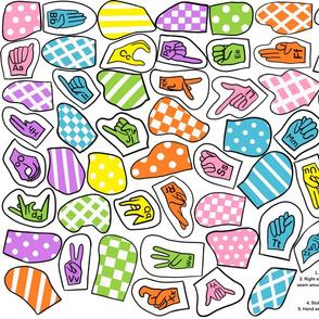 ASL Alphabet Cut & Sew Letters
