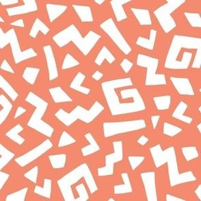 Safari Print on Orange