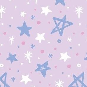 Starry Night on Violet