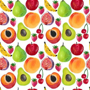 fruits in the summer