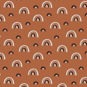 I wanna be a rainbow high in the sky cool abstract nursery trend print copper stone redSMALL