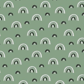 I wanna be a rainbow high in the sky cool abstract nursery trend print sage green SMALL
