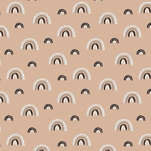 I wanna be a rainbow high in the sky cool abstract nursery trend print beige sand SMALL