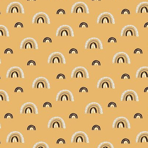 I wanna be a rainbow high in the sky cool abstract nursery trend print ochre yellow SMALL