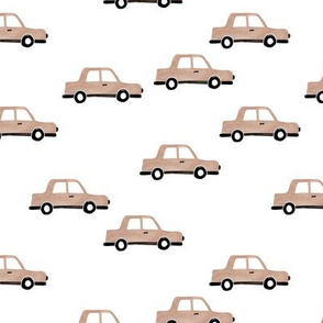 Cool watercolors Paris taxi cab cars traffic travel design for kids beige sand boys