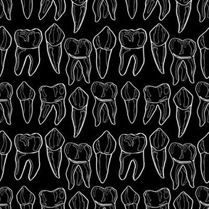 Black and White Teeth Small Scale