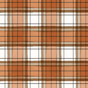 Burnt Orange Fall Plaid