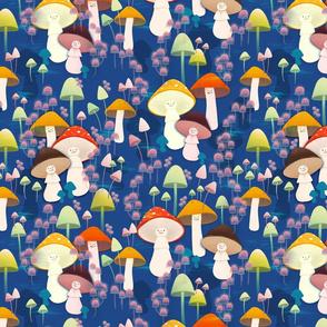 Mushrooms on top of mushrooms - half drop