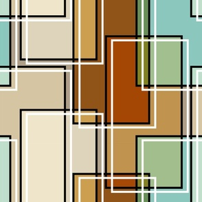 Colorful Abstract Modern Rectangle Geometric Pattern