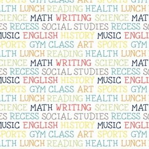 Back to School Stem Math English Art Science Sports Music Health History Lettering by Angel Gerardo - Small Scale