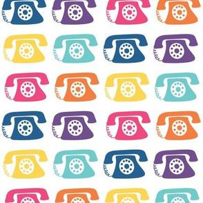 Ring Ring Rotary Telephone Rainbow