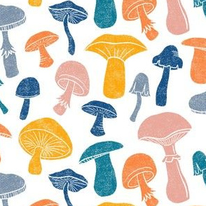 Happy Mushrooms by Angel Gerardo
