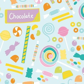 Sweet Tooth Multicolor Pastel Candy Treats