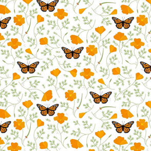 Lift California Poppies & Monarchs - Medium