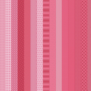 Quilting in Pink 1 Yard Cheater Quilt Strips