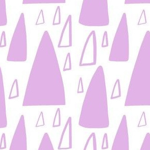 Triangle Mountain light purple