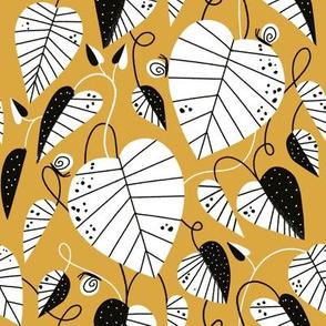 Garden Vines golden yellow